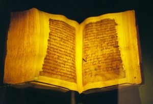 The pages of the manuscript survived the flames