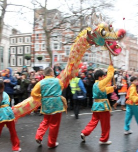 Dragon dance kicks off the parade