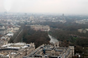 Buckingham Palace views from the eye!