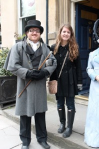 NOT Mr. Darcy. Also, he asked to take a picture with me. Eek.
